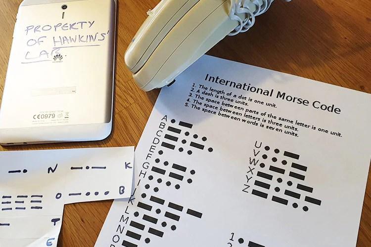 morse code key for clues