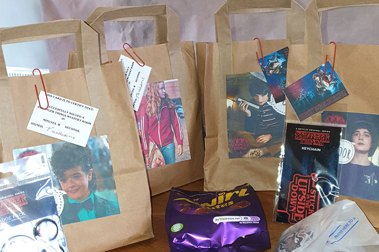 Stranger Things Escape Room party bags