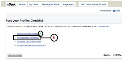 Odesk Profile Create Part: 5