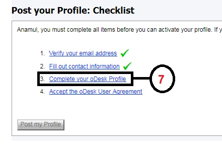 Odesk Profile Create Part: 7