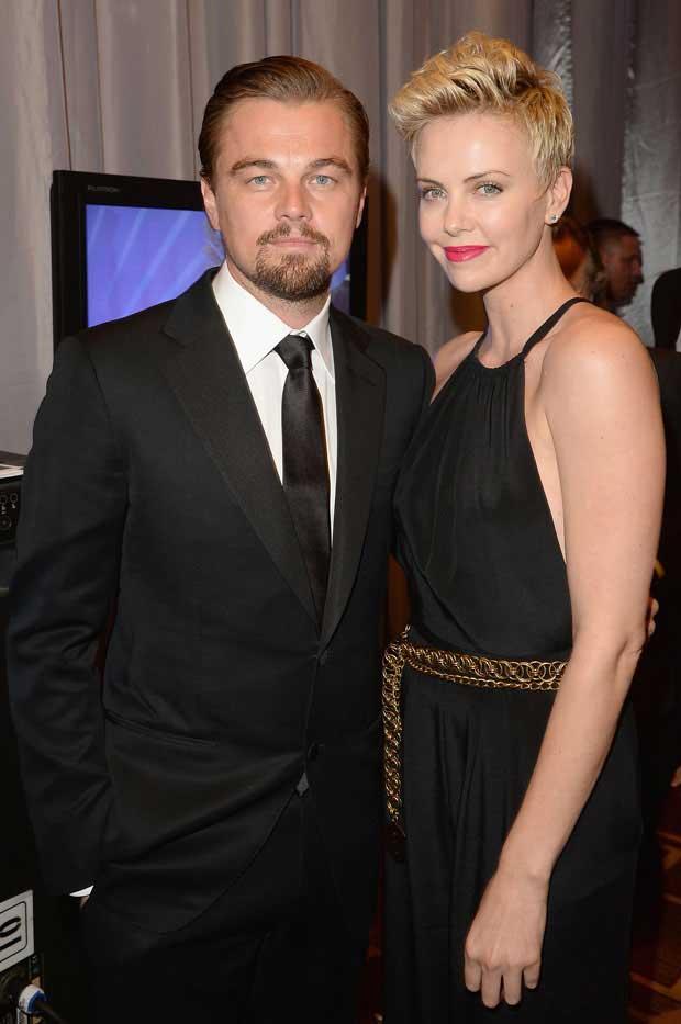 Leonardo DiCaprio & Charlize Theron at the GLAAD Media Awards