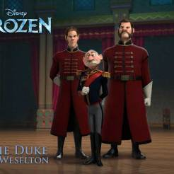 Duke of Weselton (voice of Alan Tudyk) - What the Duke of Weselton lacks in stature, he makes up for in arrogance and showboating. He's determined to get close to the new queen—that is, until Elsa's magical secret is revealed. Then he's the first to call her a monster and try to turn her own kingdom against her—anything that might help him exploit Arendelle's tradable goods.