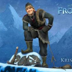 Kristoff (voice of Jonathan Groff) - Kristoff is a true outdoorsman. He lives high up in the mountains where he harvests ice and sells it to the kingdom of Arendelle. Rough around the edges, Kristoff's the strong, no-nonsense type, who follows his own set of rules. He may seem like a loner, but he always has his best friend by his side—a loyal and extremely mangy reindeer named Sven.
