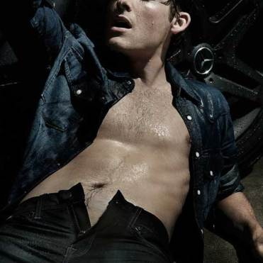 Kevin Zegers shirtless for Flaunt