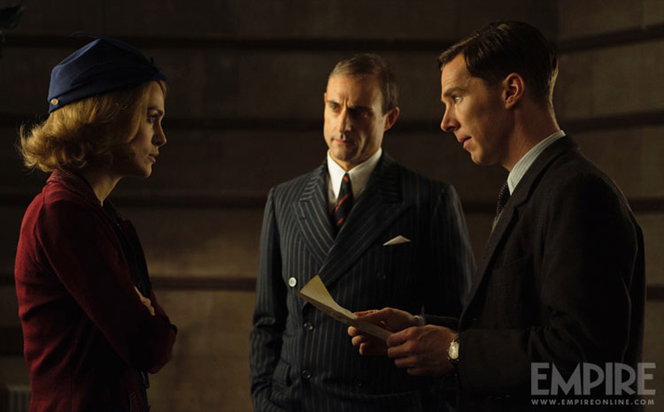 Benedict Cumberbatch, Keira Knightley & Mark Strong in The Imitation Game