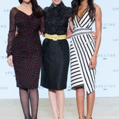 Monica Bellucci, Lea Seydoux & Naomie Harris at Spectre launch