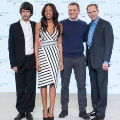 Ben Whishaw, Naonie Harris, Daniel Craig & Ralph Fiennes at Spectre launch