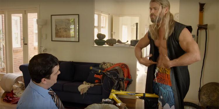 "Thor Shows Roommate Daryl How Many Muscles/Brains<span class=""pt_splitter pt_splitter-1""> He's Got In New Team Thor Skit</span>"