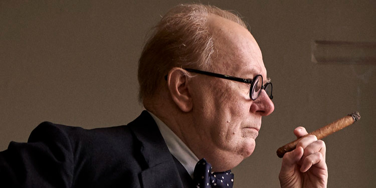 Watch The First Trailer For Joe Wright's DARKEST HOUR Starring Gary Oldman