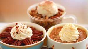 Microwave Mug Pies (Pumpkin, Apple & Pecan Pies)