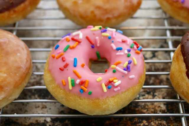 Homemade, No-knead, Baked, Not fried, Donuts, Sprinkle, Glazed, Chocolate, Gemma Stafford, Bigger Bolder Baking, Baking, Baking Videos, Recipes, Hope to make donuts