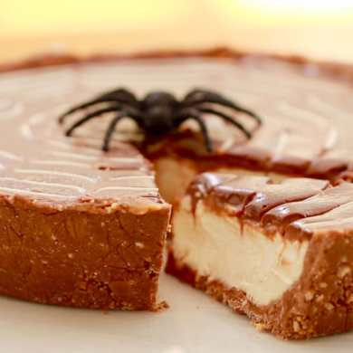 No-Bake Twix Pie for Halloween