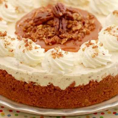 Butter Pecan Ice Cream Cake (No Ice Cream Machine Required)