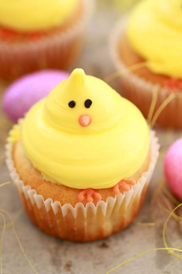 Baby Chick Vanilla Cupcakes Small Batch Cupcakes For Spring