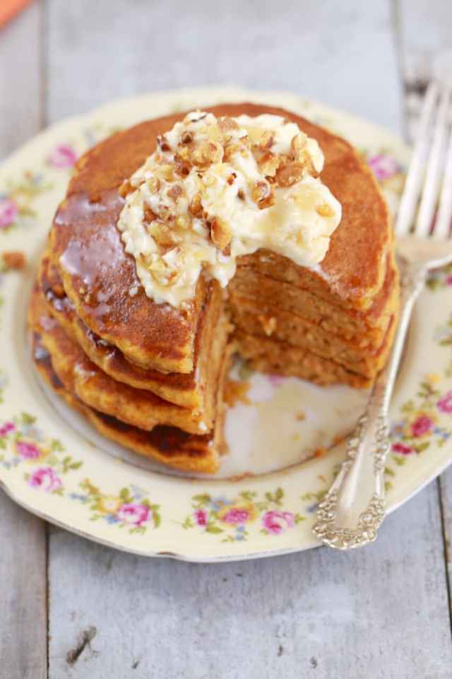 Carrot Cake Pancakes with Cream Cheese Frosting, carrot cake, breakfast recipes, breakfast ideas, best breakfast ever, carrot cake pancakes, carrot cake pancake recipes, Pancakes,pancakes, best ever pancake recipe, American Pancake recipes, pancake recipes, cream cheese frosting, Easter recipes, spring recipes, easter breakfast, easter time, Easter Sunday, easter desserts, spring time, Recipes, baking recipes, dessert, desserts recipes, desserts, cheap recipes, easy desserts, quick easy desserts, best desserts, best ever desserts, simple desserts, simple recipes, recieps, baking recieps, how to make, how to bake, cheap desserts, affordable recipes, Gemma Stafford, Bigger Bolder Baking, bold baking, bold bakers, bold recipes, bold desserts, desserts to make, quick recipes