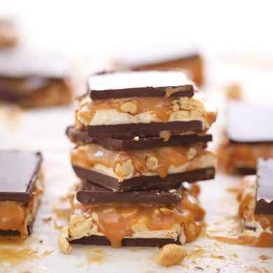 Candy Bar Fudge (Snickers)