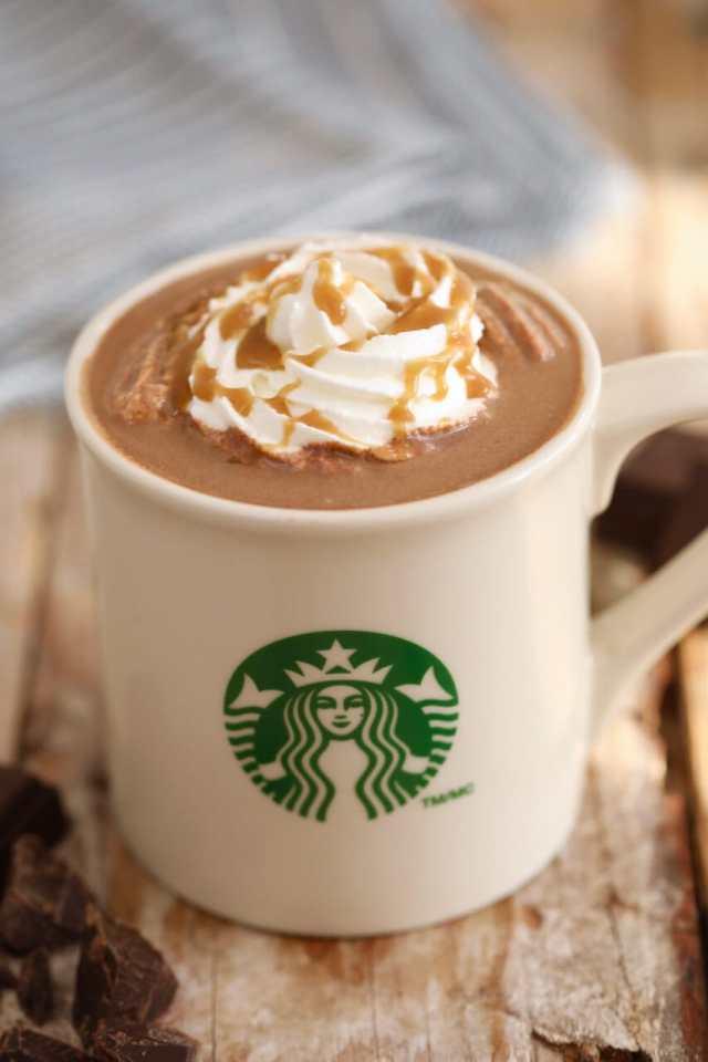 Starbucks Salted Caramel Hot Chocolate, starbucks drinks, Hot chocolate recipe, how to make starbucks drinks, Salted Caramel Hot Chocolate, best ever hot chocolate recipe