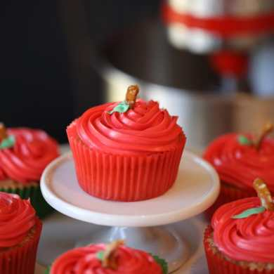 Apple Cupcakes for Fall