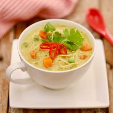Microwave Thai Green Curry in a Mug