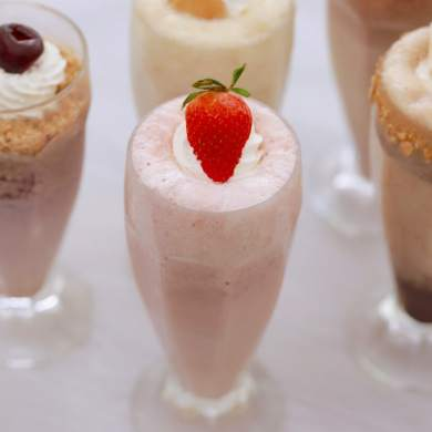 Strawberries and Cream Milkshake