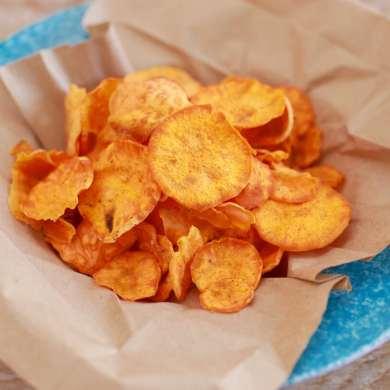 Microwave Sweet Potato Chips (Microwave Snacks)