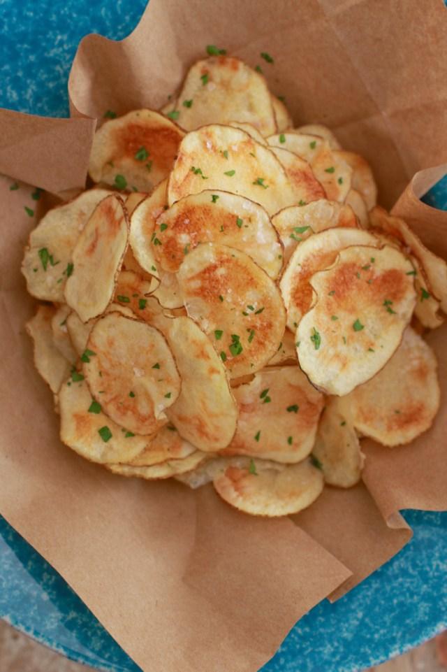 potato chips, microwave potato chips, homemade potato chips