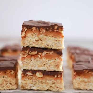Snicker's Rice Krispies Treats