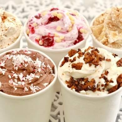 Holiday Ice Cream Flavors (2 Ingredient, No Machine Ice Cream)