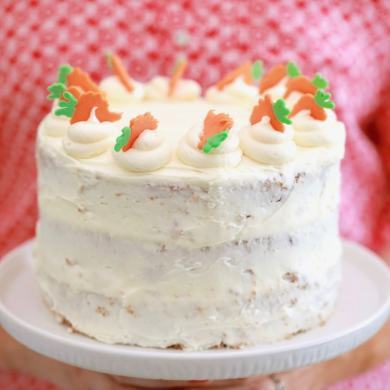 3-Layer Carrot Cake Made in the Microwave
