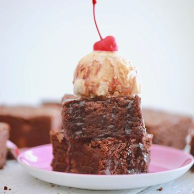 Full Batch Microwave Brownies