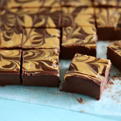 Chocolate Peanut Butter Vegan Fudge