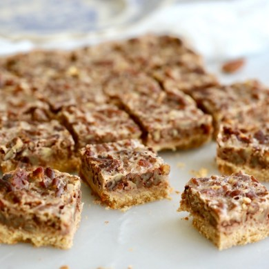 Vegan Pecan Pie Bars (Sugar Free)