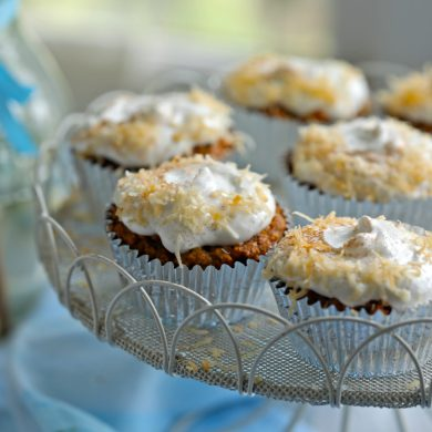 Gluten-Free Carrot Cake Cupcakes (Refined Sugar Free)