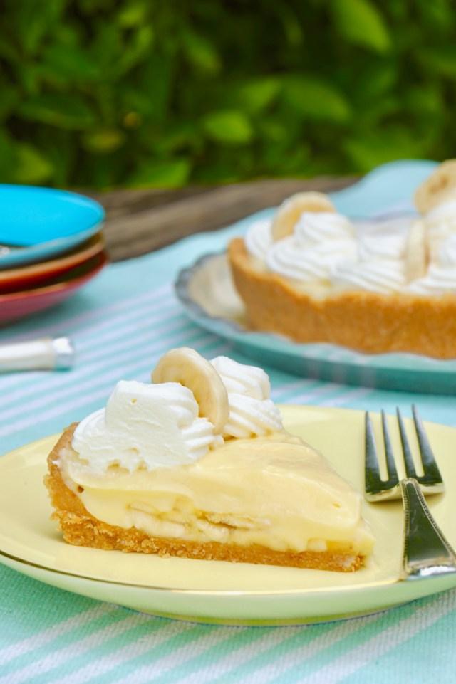 A slice of my Banana Cream Pie Recipe.