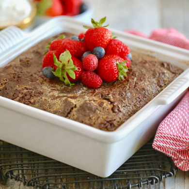 Brownie Bread Pudding