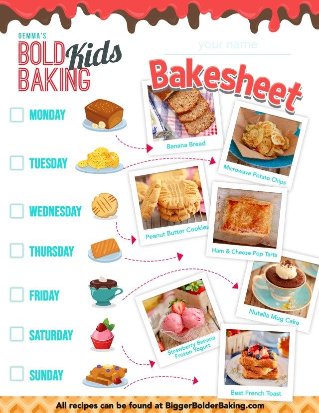 Week two of the Bold Baking Kids Bakesheet