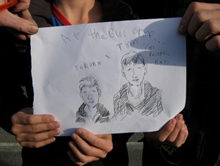Joff's drawing of Jordan and Tom