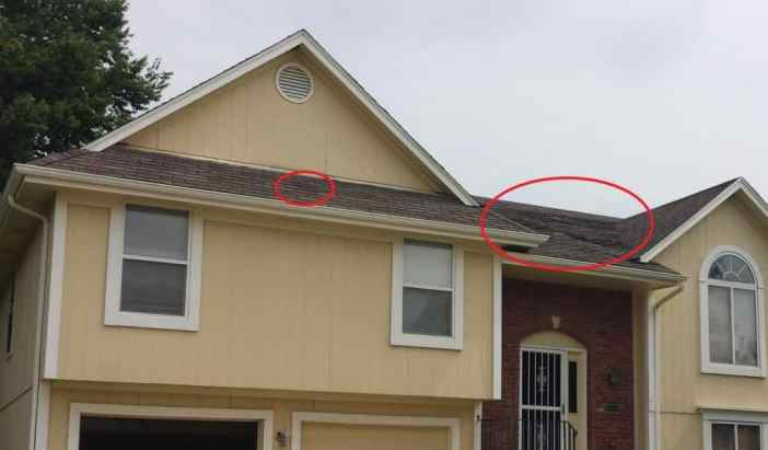roof damage found when performing due diligence