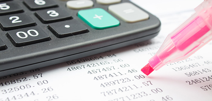 highlighting data on real estate financials spreadsheet