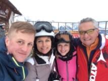 Skifahren mit Alex und Andrea und Präsident