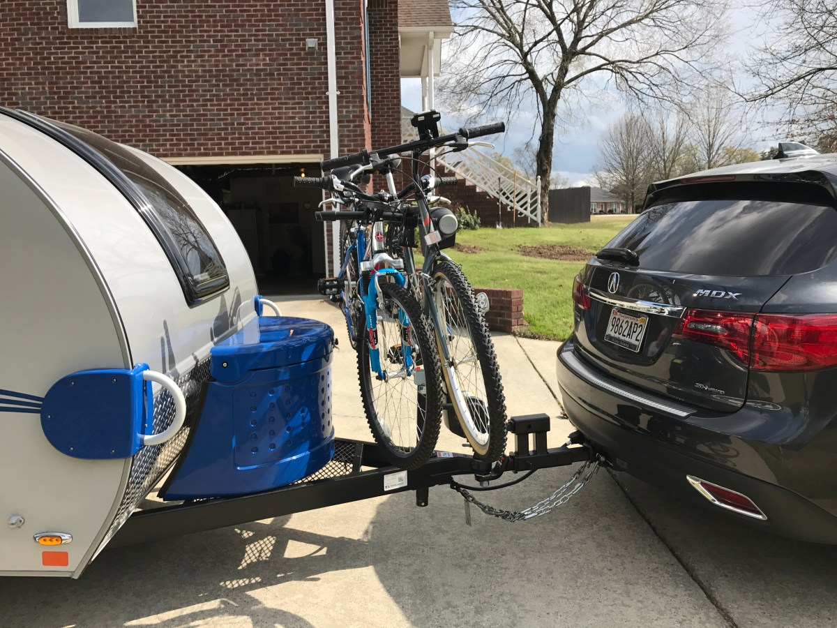 Bikes and Teardrop Camping–Our Solution