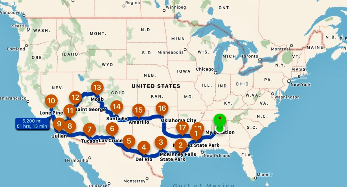 Planning That First Long Trip