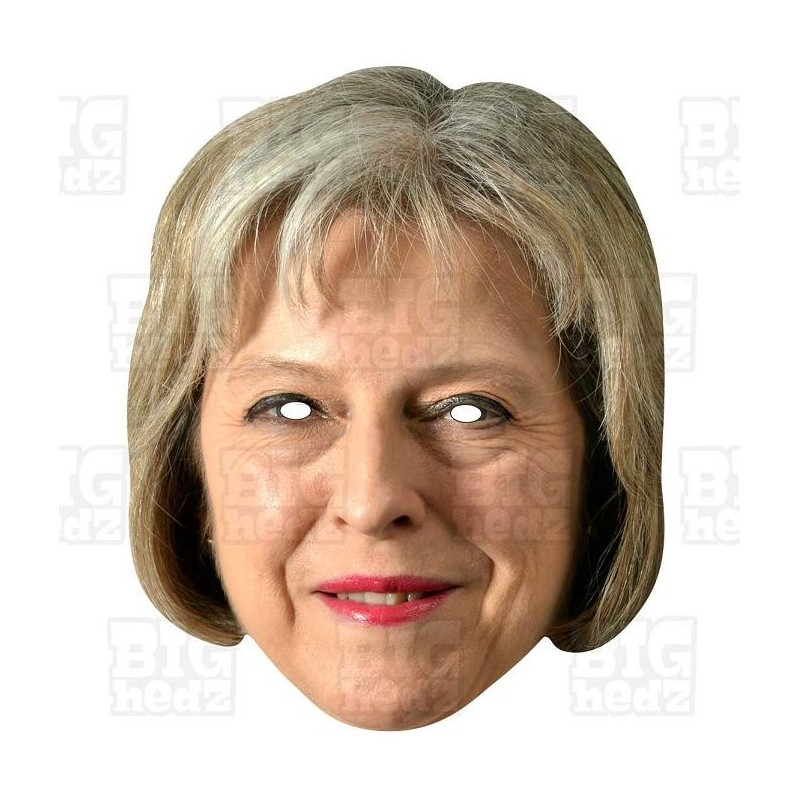 THERESA MAY Celebrity Card Face Mask BREXIT Political