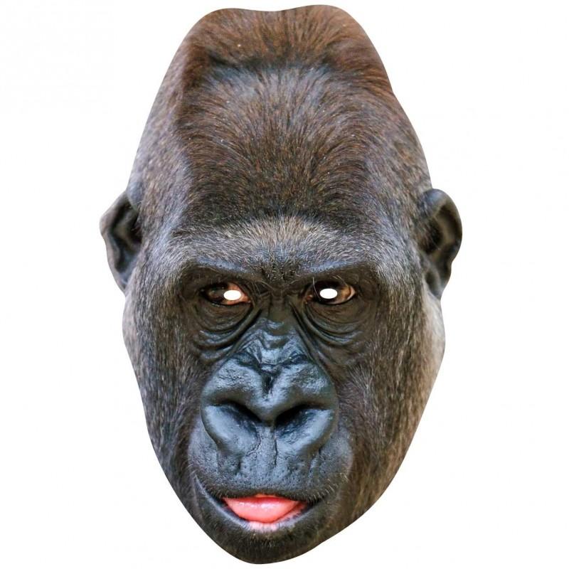 GORILLA Life Size Card Face Mask Go Ape For King Kong