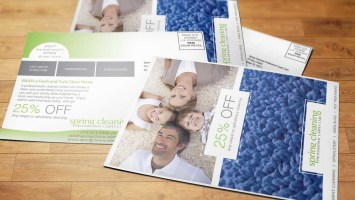 Dallas Texas Carpet Cleaner Direct Mail Postcard Design-Big Hit Creative Group