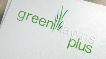 Green Lawns Plus Logo Design-Big Hit Creative