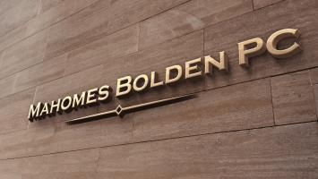 Mahomes Bolden Wall Logo Mockup