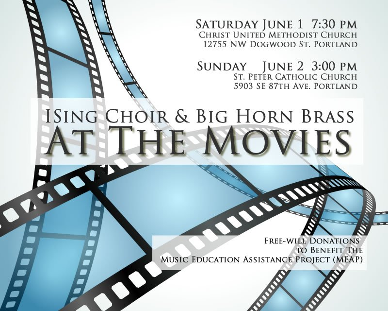 ISing Choir & Big Horn Brass AT THE MOVIES