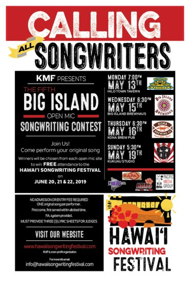 Calling All Big Island Songwriters: Open Mic Contest Starts