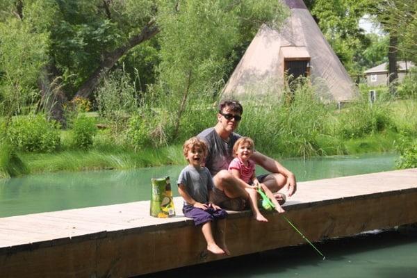 Fishing at Geronimo Creek Retreat